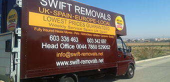 Removals Torre de la Horadada Costa Blanca to UK